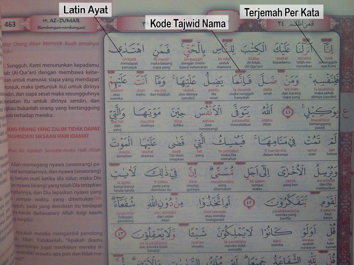 12 Al Quran Terjemah Perkata Dan Kode Tajwid Wasim