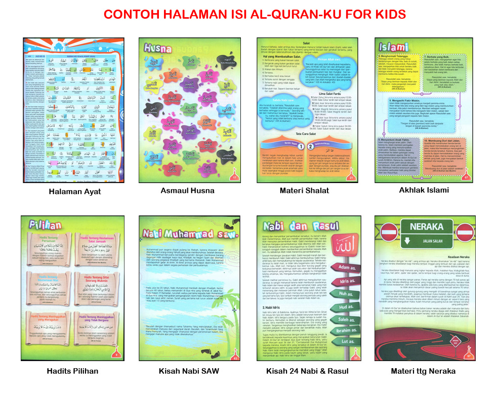 contoh halaman al-quranku for kids copy