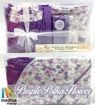 Prayer Set Purple Polka Flower
