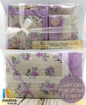 Prayer Set Lavender Polka Rose Flower