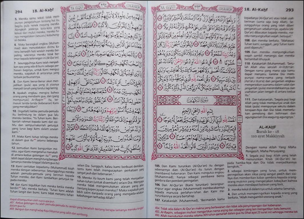 al-quran terjemah manula isi copy