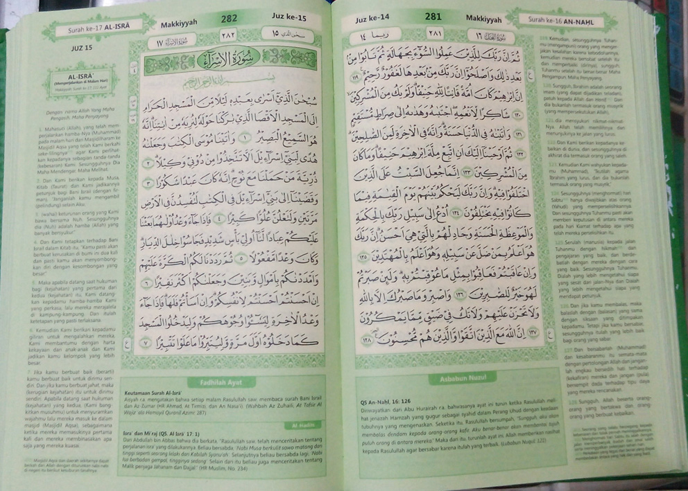 bagian dalam al-quran al akhyar