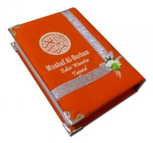 Al-Quran Al-Burhan Tajwid Cover Katun Orange (A6)